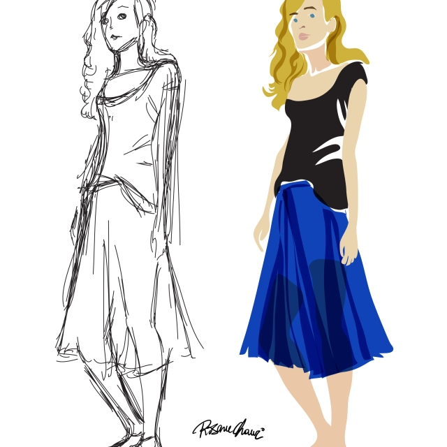 rla aouad model sheet rosane chawi sketch