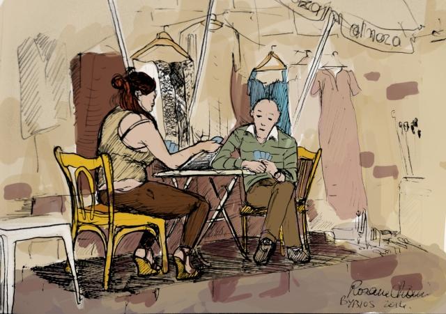 Colored Sketch Rosane Chawi