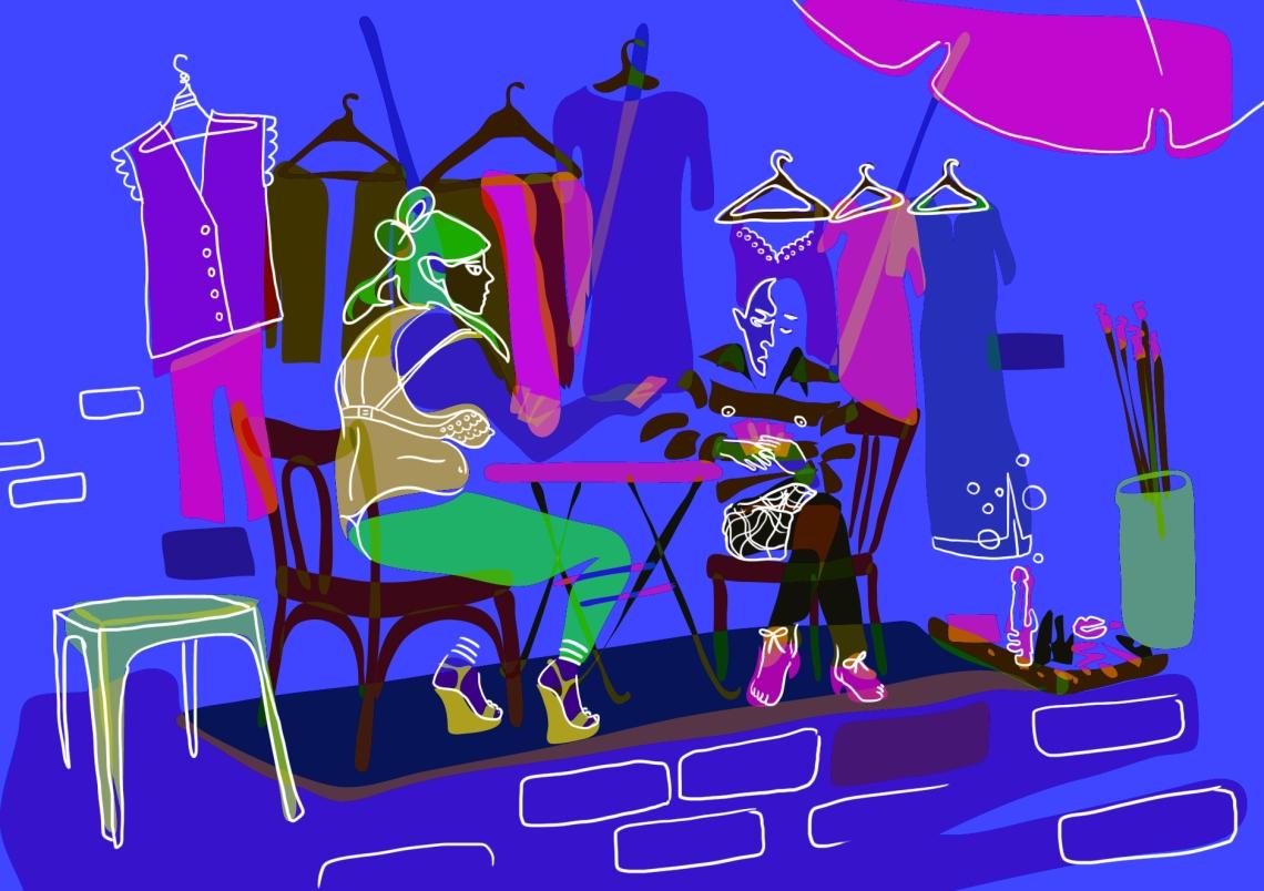 Dark mysterious sketch Rosane Chawi