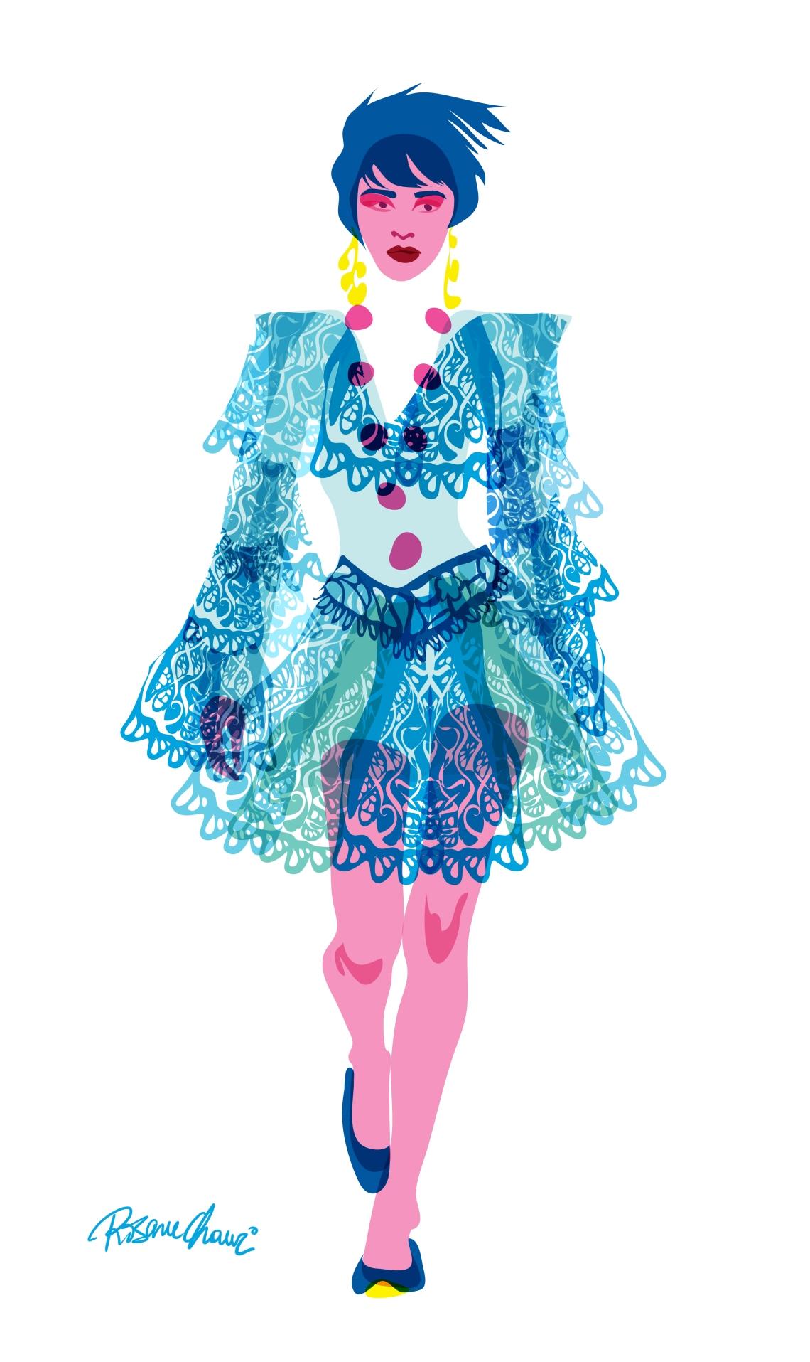 Model 1 fashion Rosane Chawi