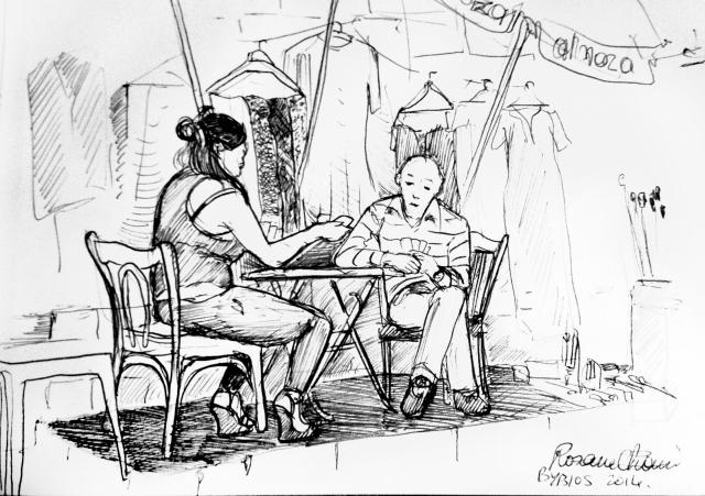 original sketch rosane chawi black and white