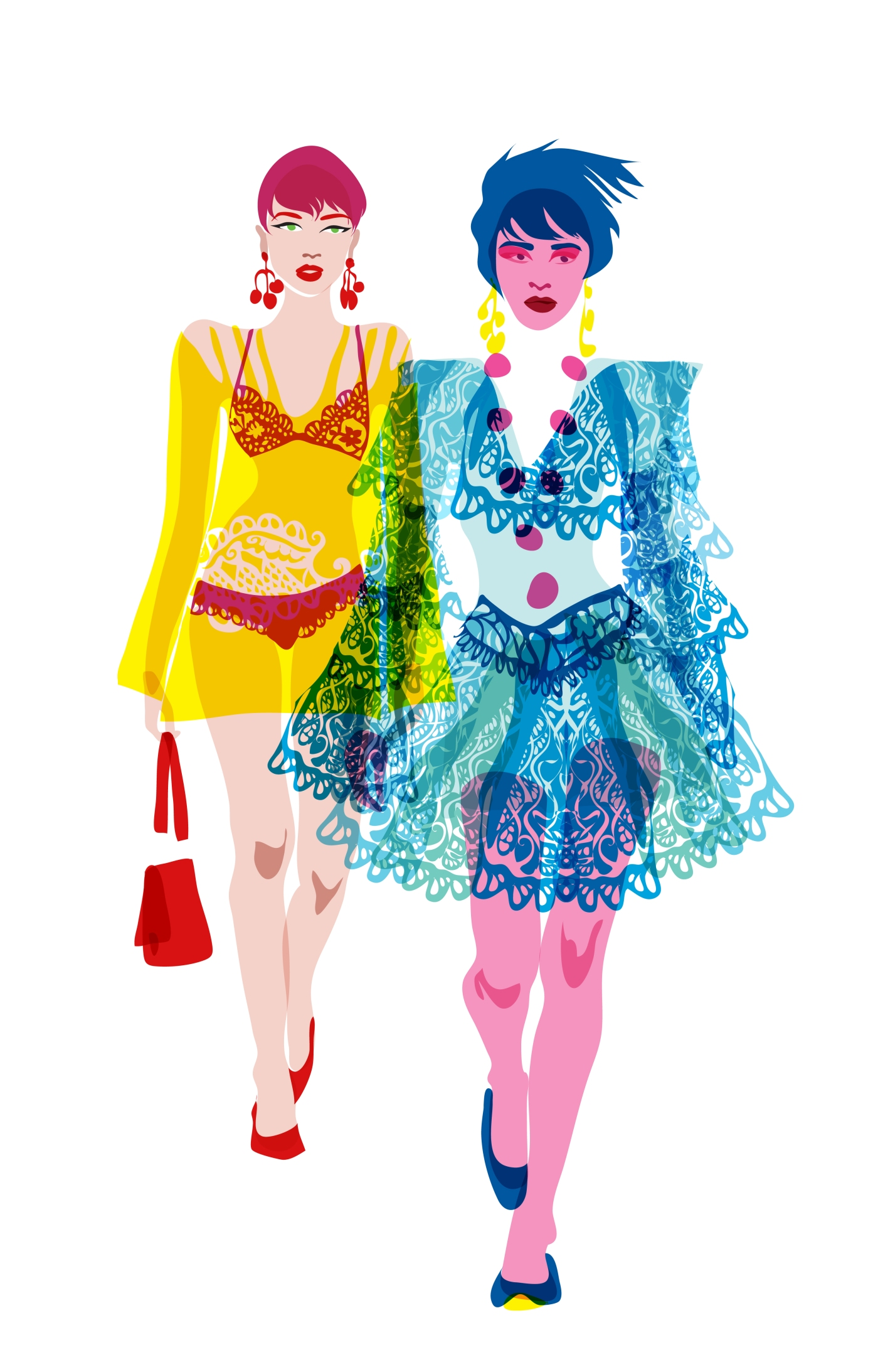 two models rosane chawi