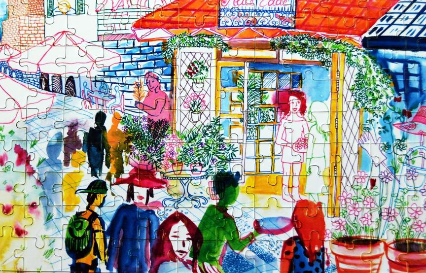 alice eddé puzzle watercolor rosane chawi blog