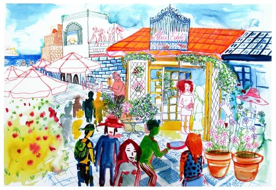 Alice eddé watercolor Rosane Chawi blg