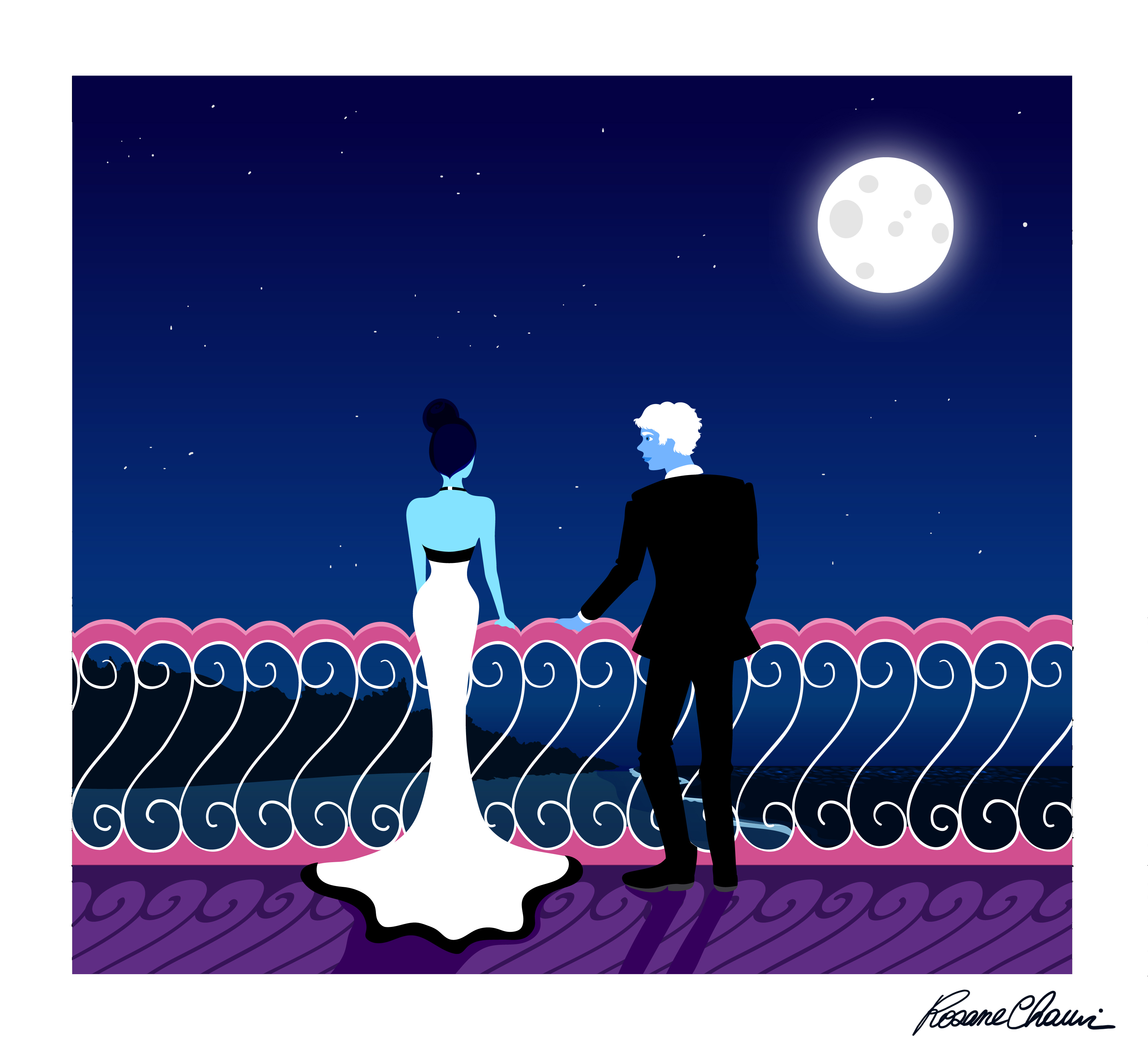 Moonlight gown rosane chawi mélodie bloo