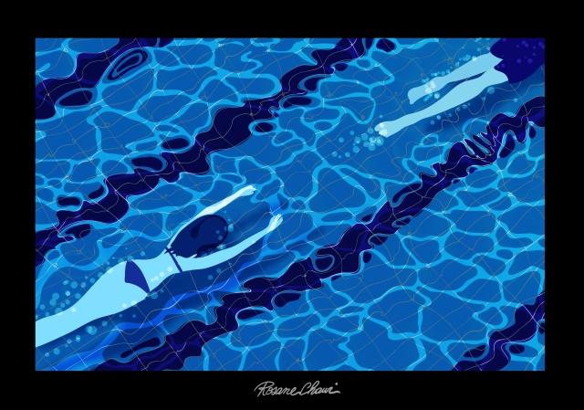 electric waters follow pool mélodie bloo rosane chawi